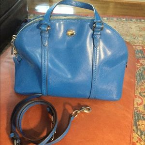 Coach cobalt blue zippered purse